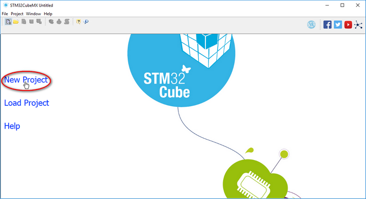 STM32 CubeMx New Project