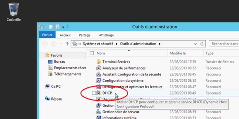 Windows Serveur 2012 R2 DHCP